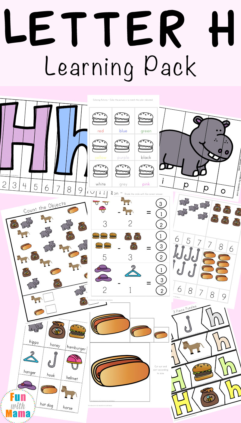 Preschool Letter H Worksheets Letter H Worksheets Activities Fun with Mama