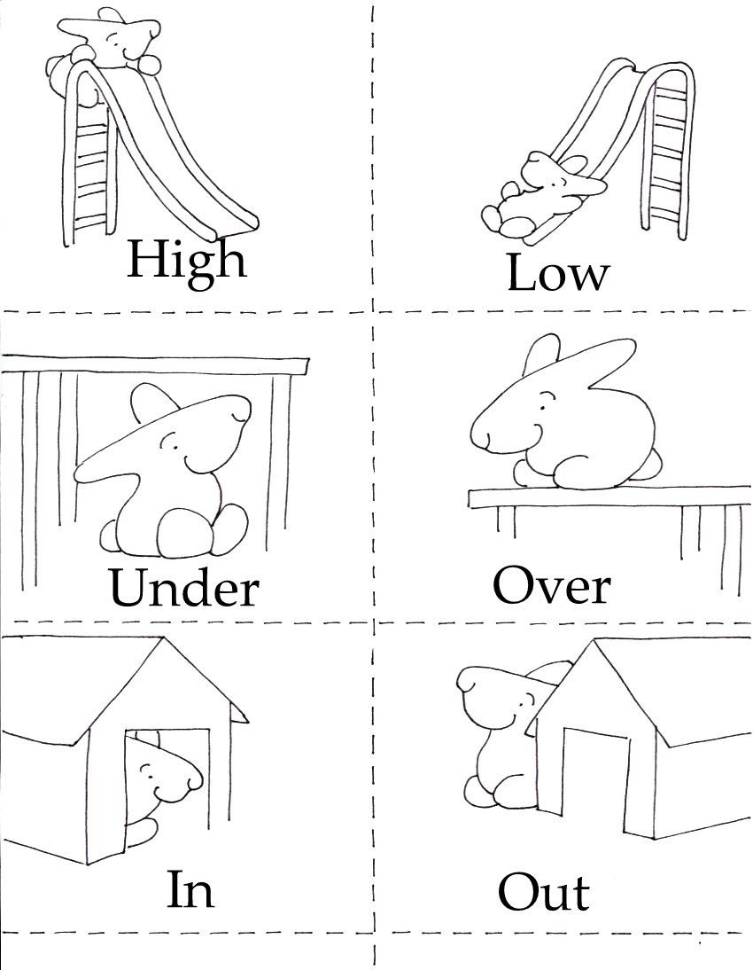 Preschool Opposites Worksheets 3 In 1 Printables