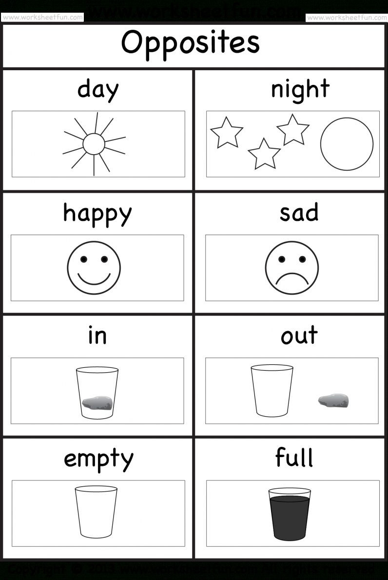 9 Opposite Worksheet For Preschool Preschool