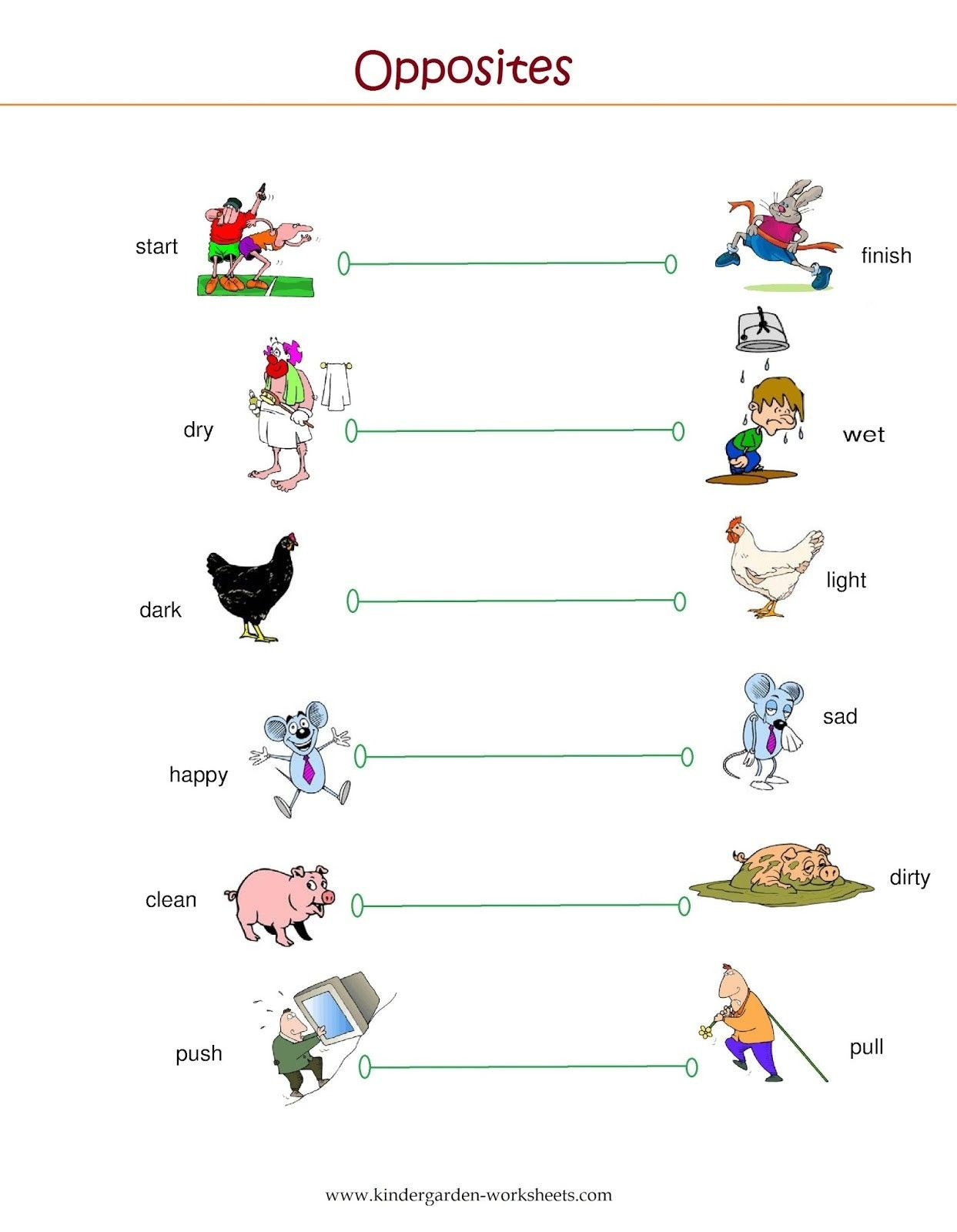 Preschool Opposites Worksheets Opposites Preschool Worksheet