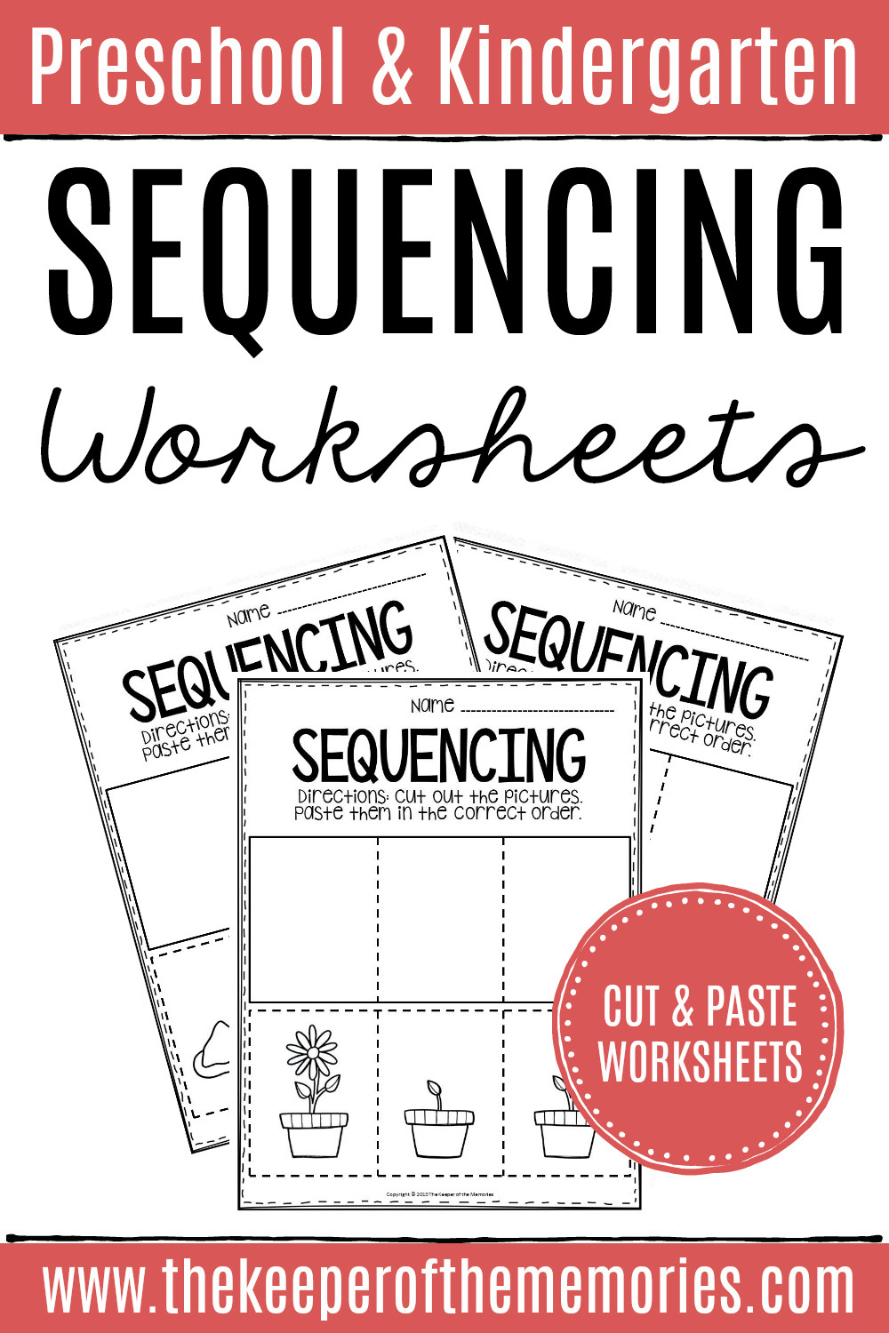 Preschool Sequencing Worksheets 3 Step Sequencing Worksheets the Keeper Of the Memories