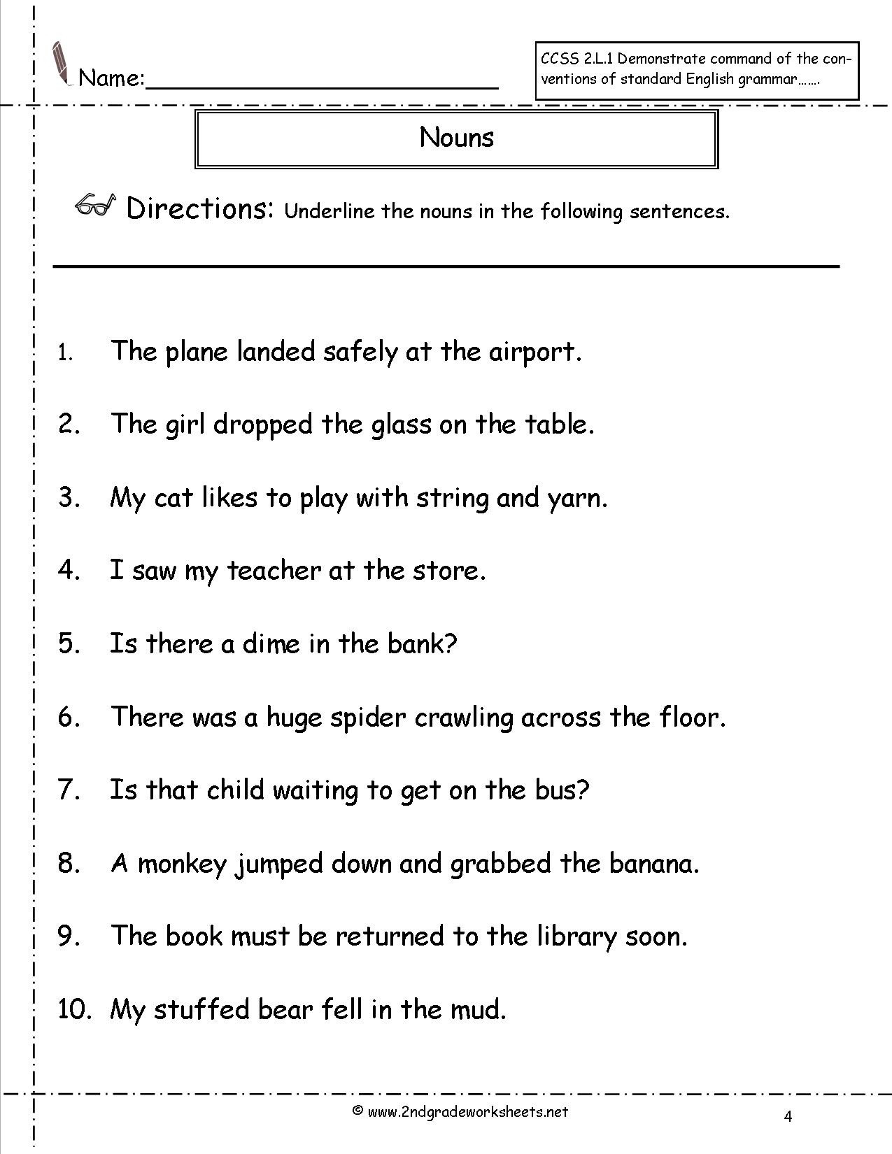 Pronoun Worksheet for 2nd Grade Pronoun Worksheets 2nd