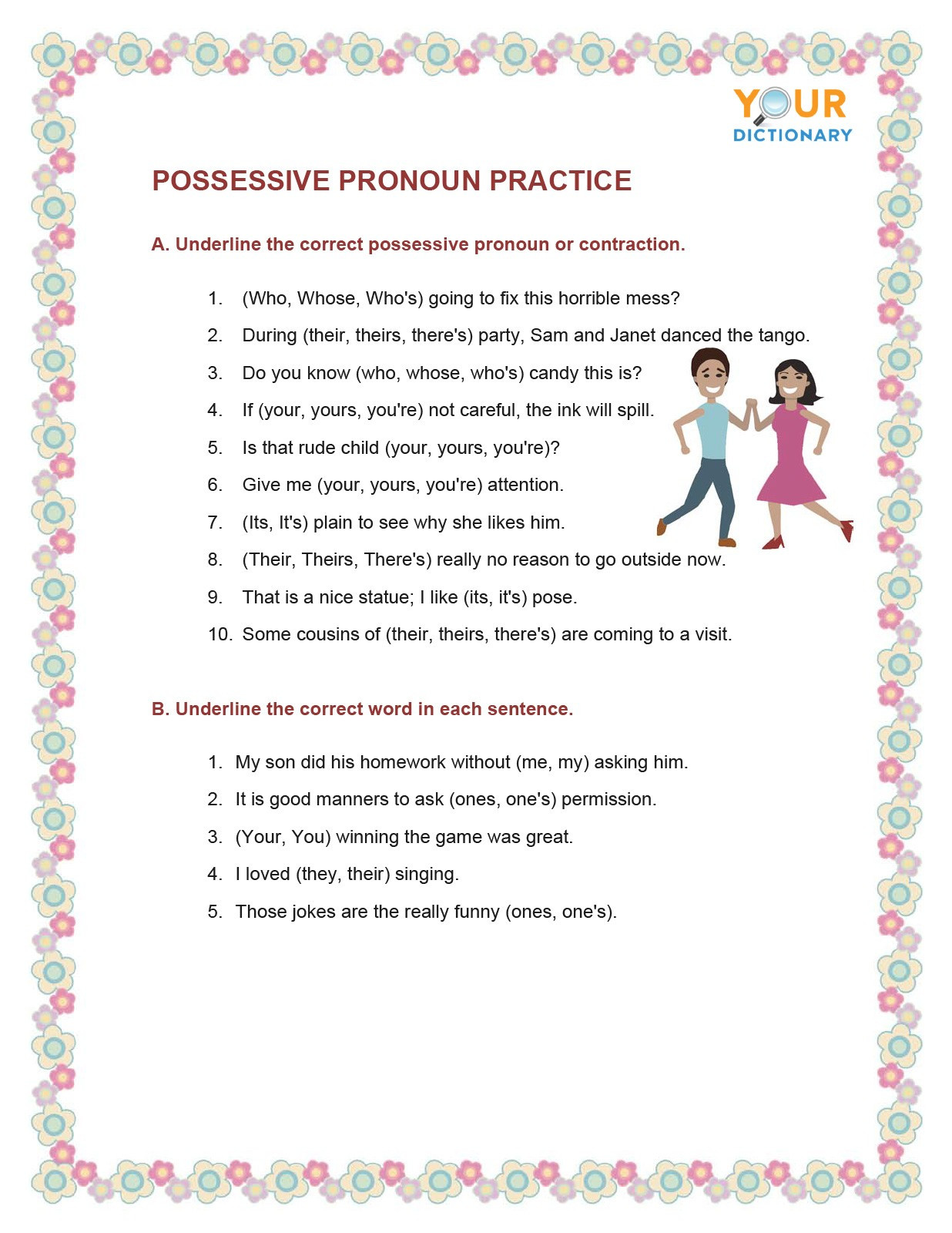 Pronoun Worksheets 6th Grade Types Of Pronouns Worksheets