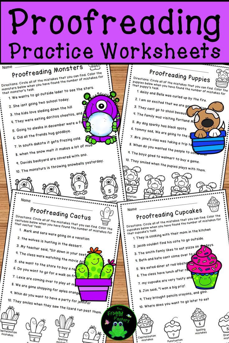 Proofreading Worksheets Middle School Proofreading Worksheets Editing Practice