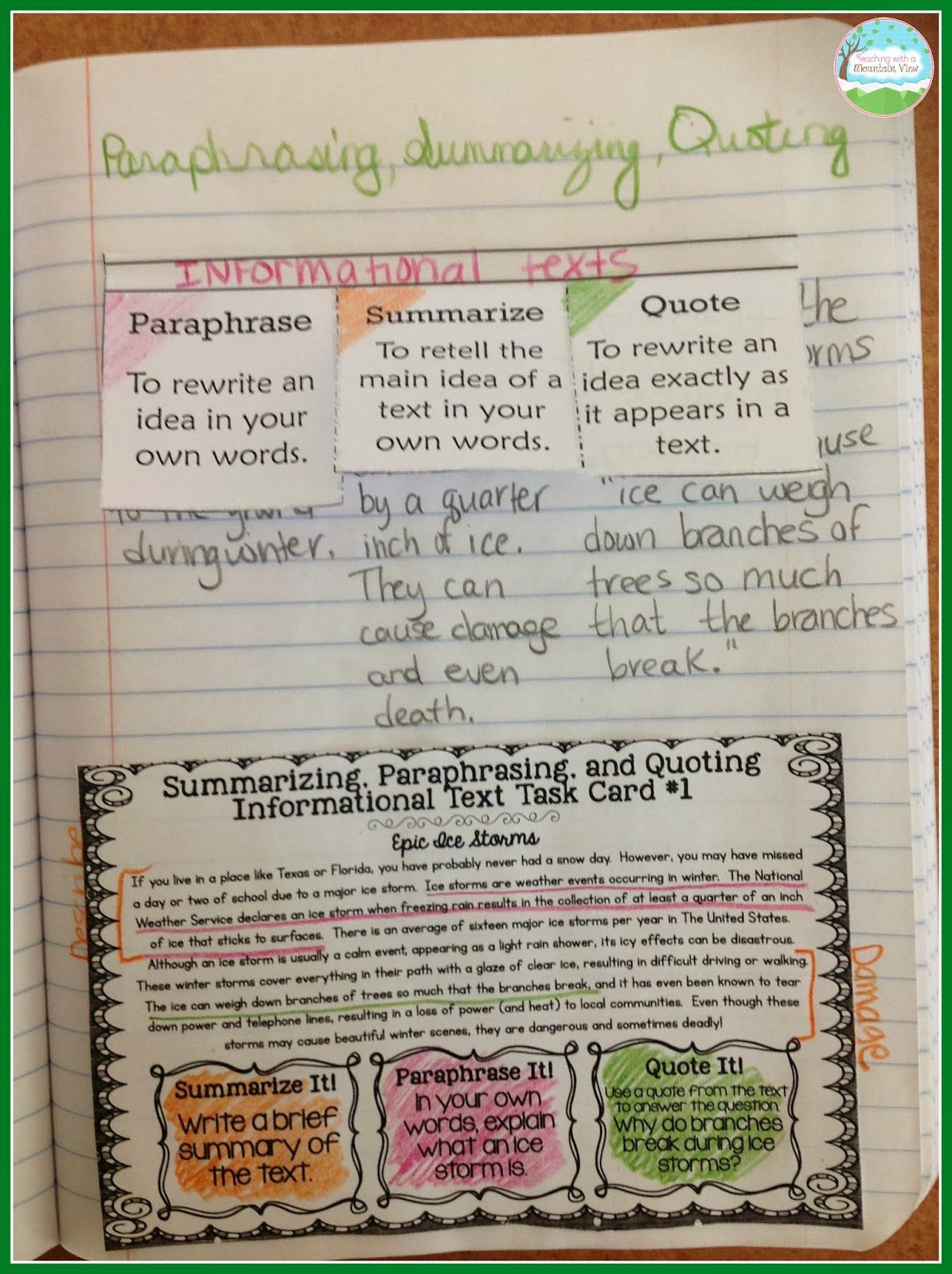 Quotation Worksheets 4th Grade Teaching with A Mountain View