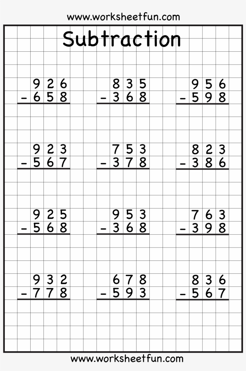 Regrouping Subtraction Worksheets 3rd Grade Math Worksheet 3rd Grade Subtraction Worksheets Math