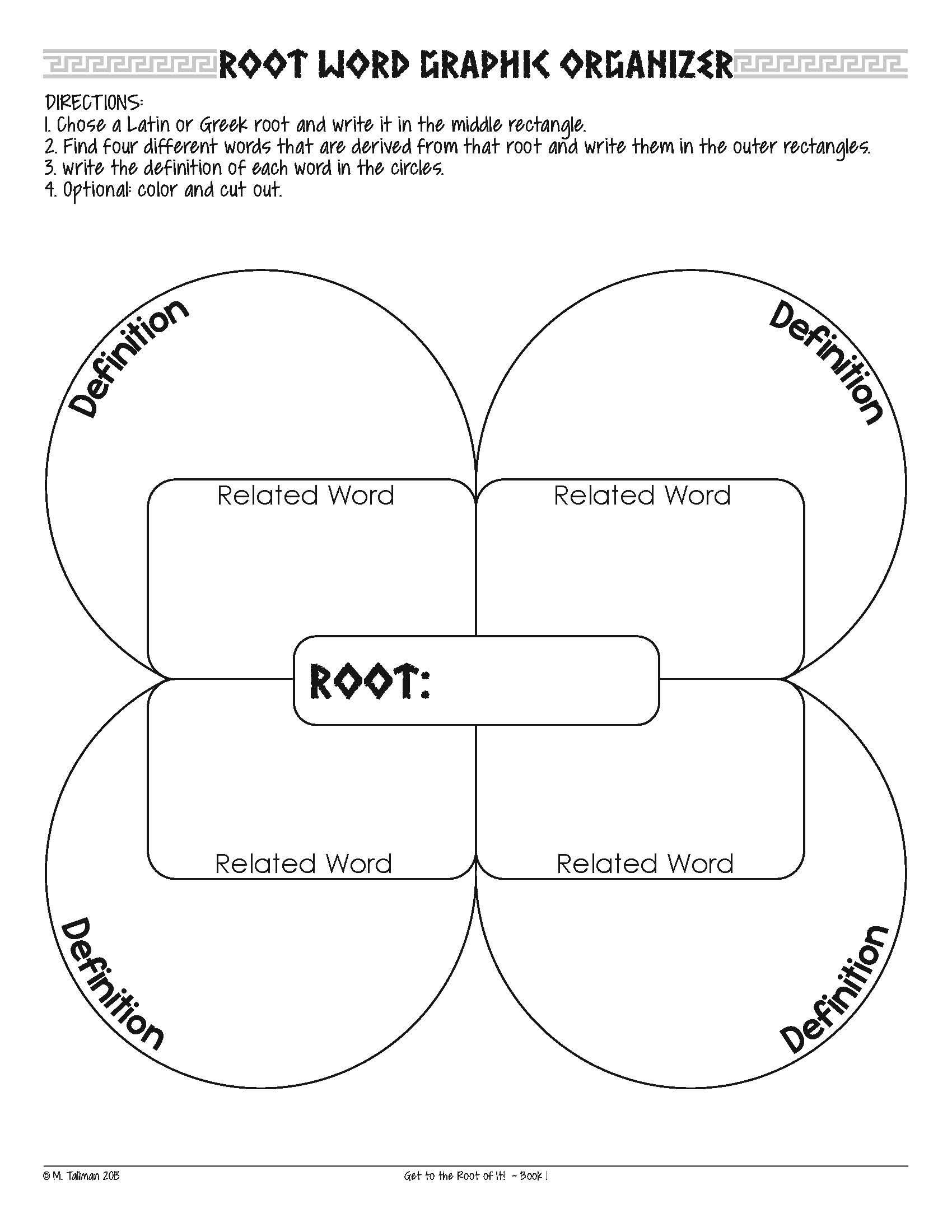 Root Word Worksheets Middle School Free Greek and Latin Root Word Activities