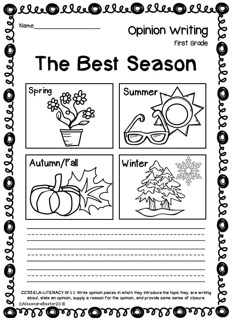 Seasons Worksheets for First Grade 1st Grade Writing Worksheets – Alisha Blogs