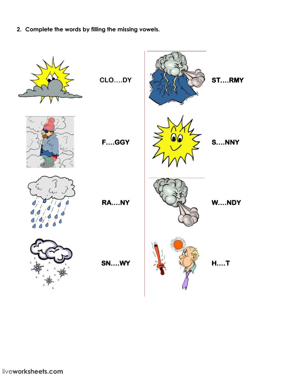 Seasons Worksheets for First Grade Seasons and Clothes Interactive Worksheet
