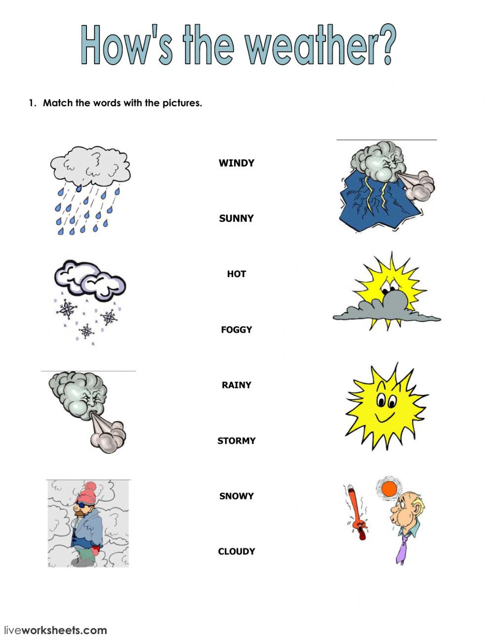 Seasons and clothes Interactive worksheet