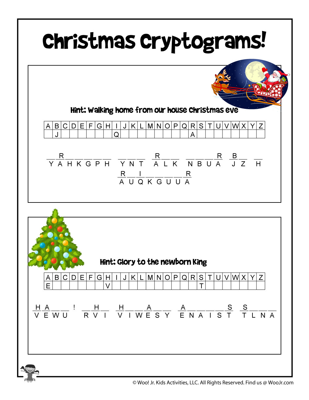 Secret Code Math Worksheets Christmas Secret Code Puzzle