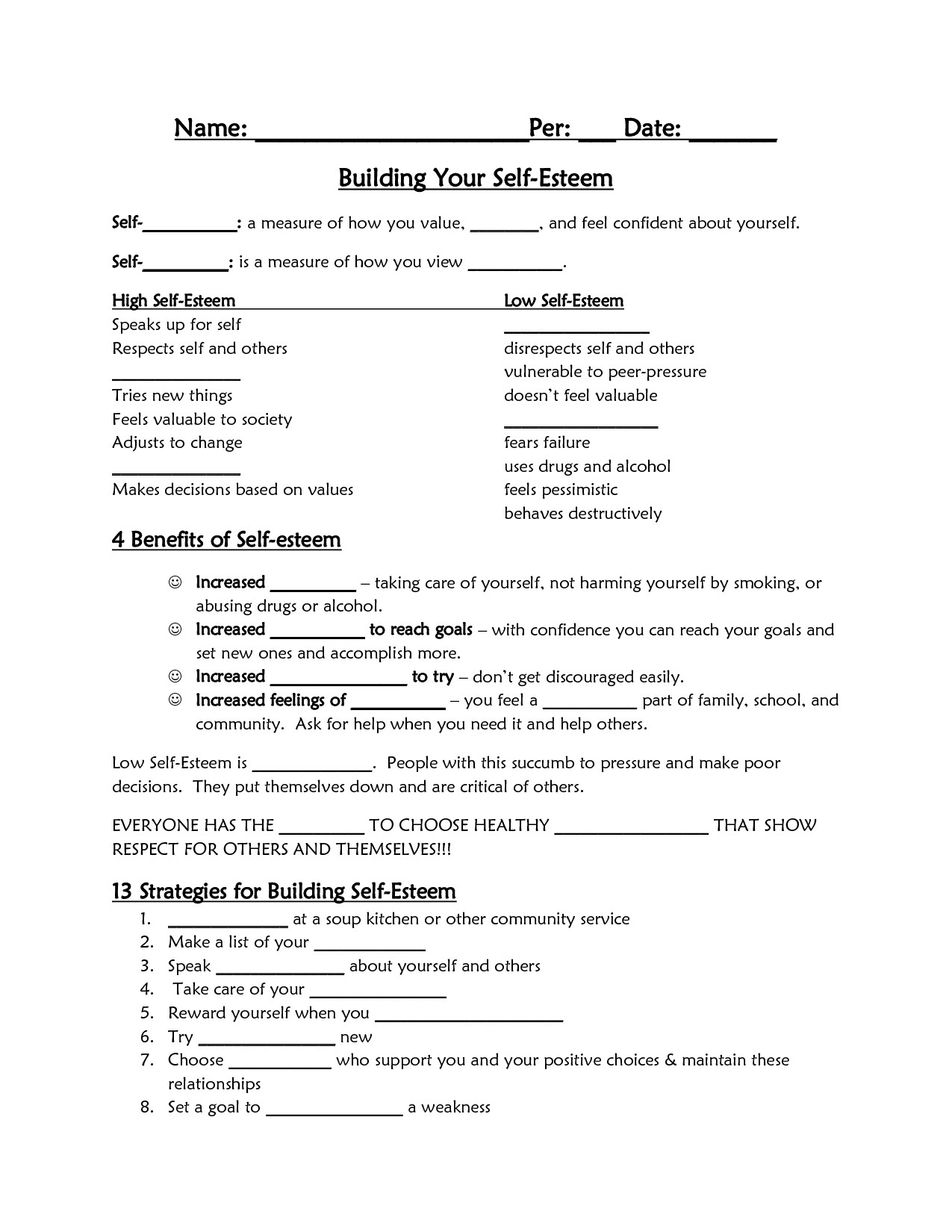 Self Esteem Printable Worksheets top Ten Floo Y Wong Artist — Self Esteem Worksheets