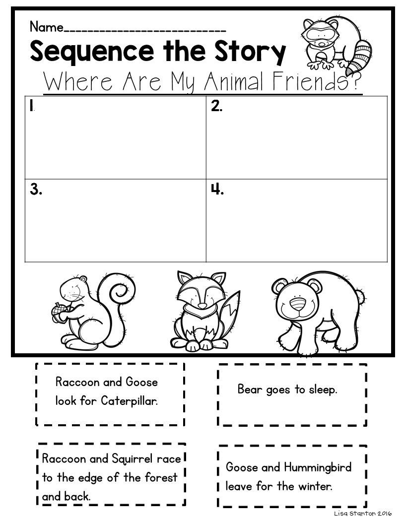 "Sequence Worksheets for 1st Grade Free Sequencing Activity for the Story ""where are My Animal"