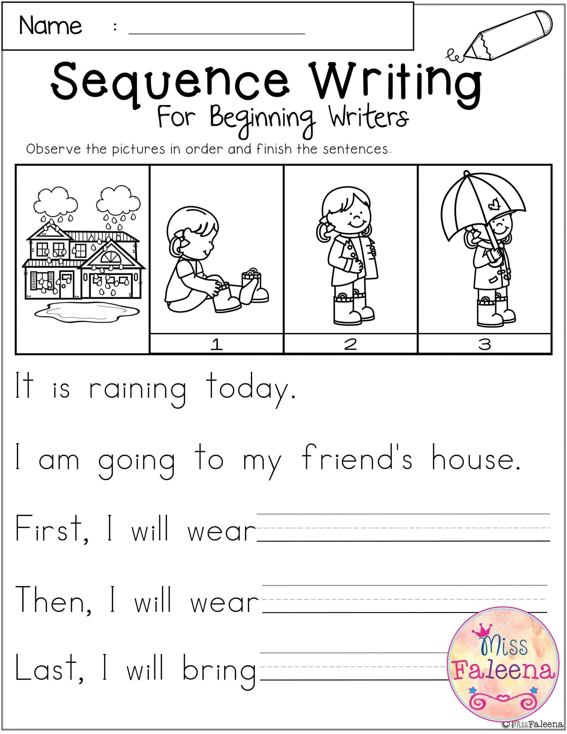 Sequencing Worksheets 4th Grade Sequencing Writing Worksheets