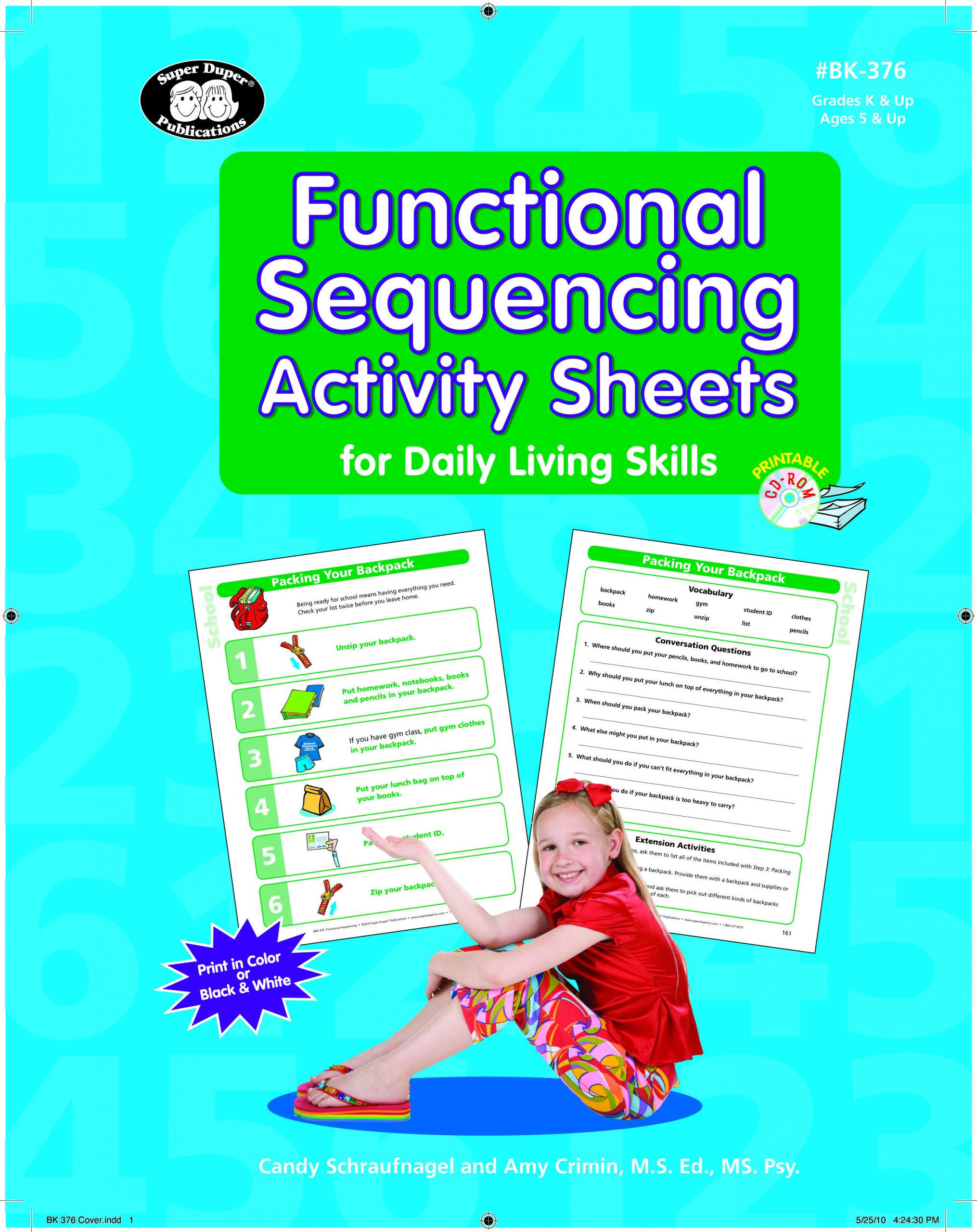 Sequencing Worksheets for Middle School Functional Sequencing Activity Sheets for Daily Living