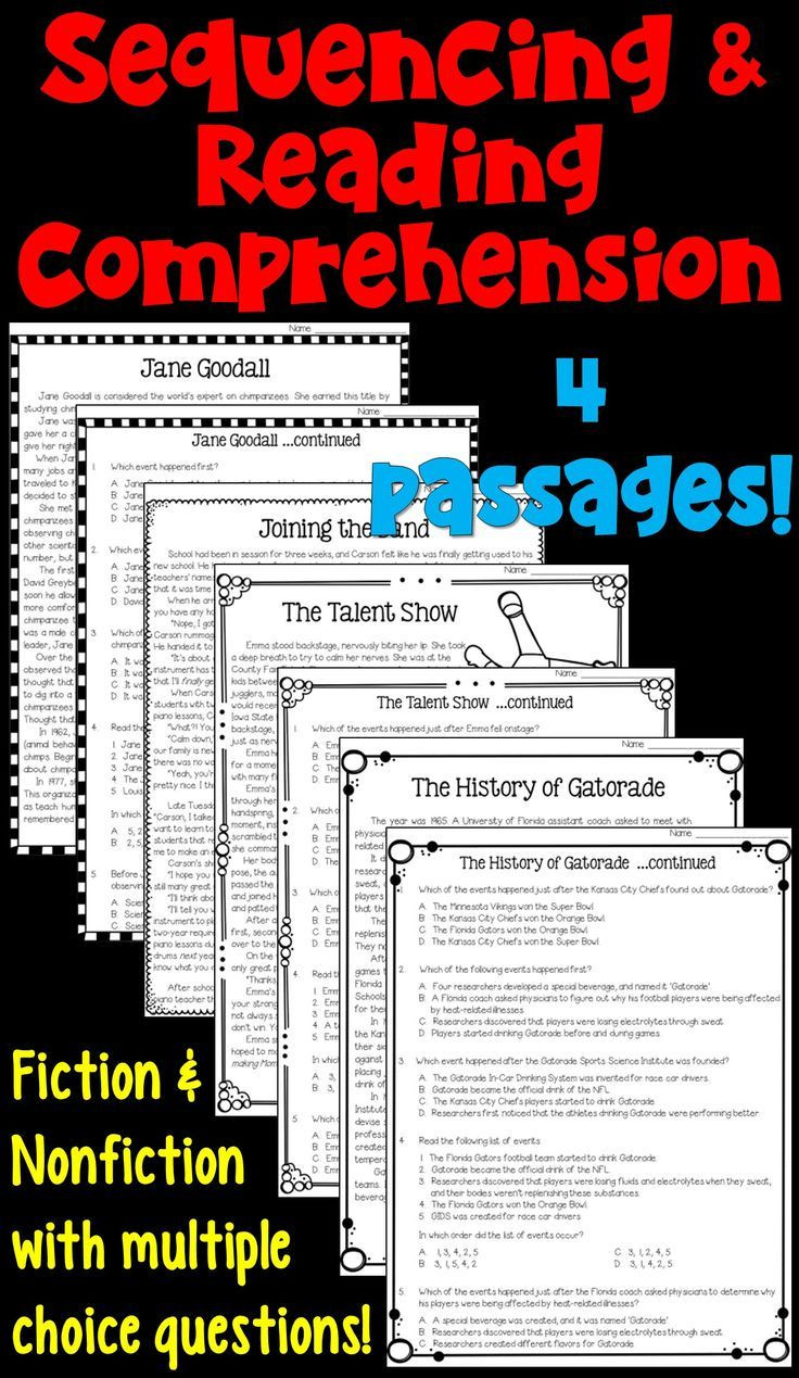 Sequencing Worksheets for Middle School Sequencing Worksheets with Reading Prehension Passages