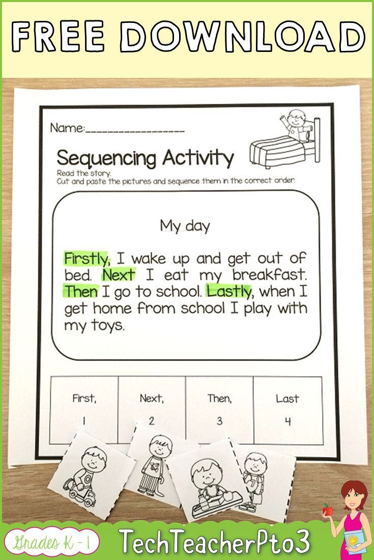 Sequencing Worksheets Middle School Pin On 2nd Grade Material