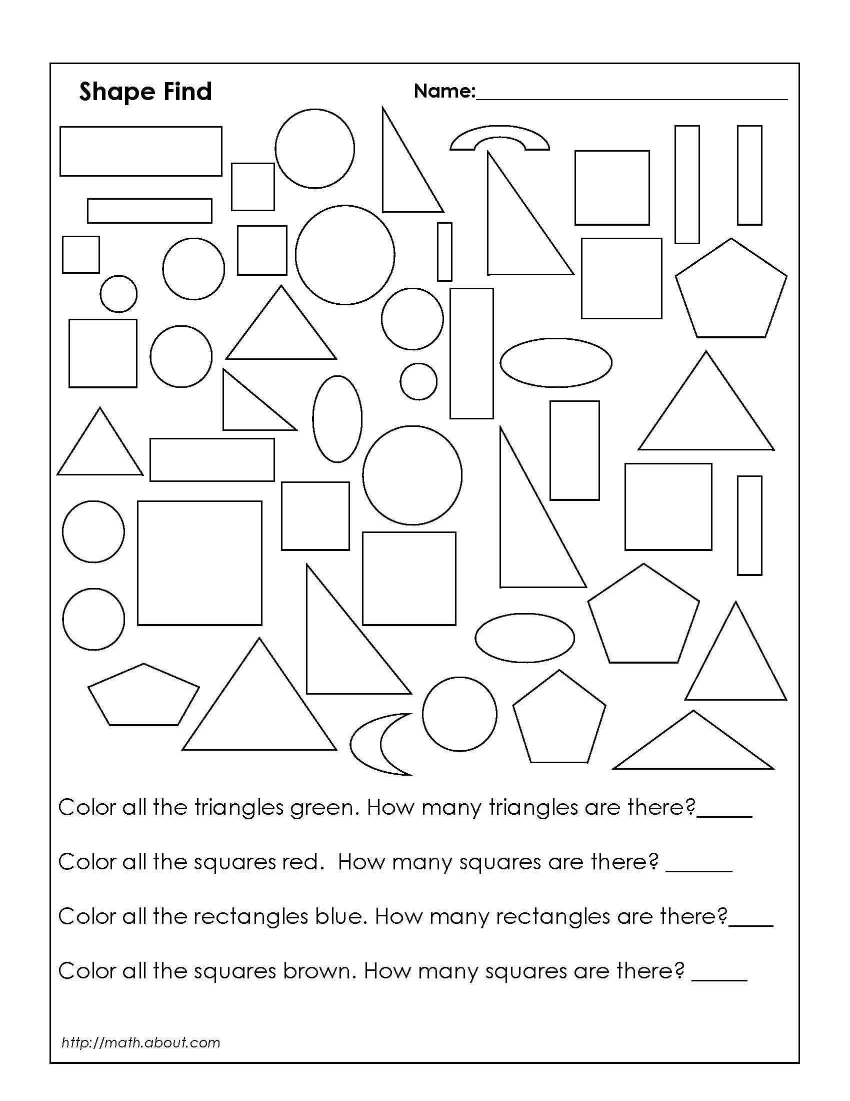 Shapes Worksheets 2nd Grade 18 Best Rectangles Triangles Worksheets Images On Best