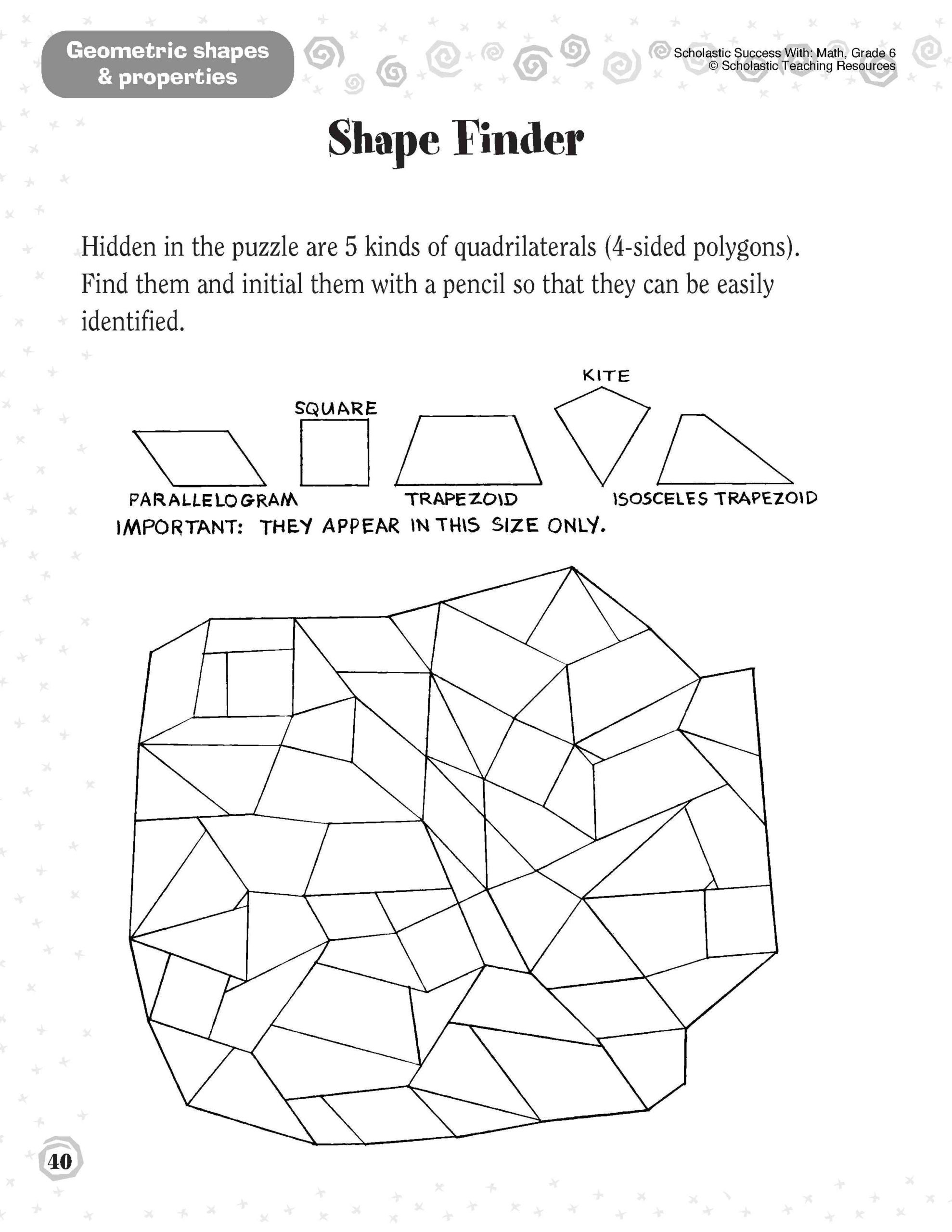 Shapes Worksheets 2nd Grade Shapes Worksheet 1st Grade Printable Worksheets and