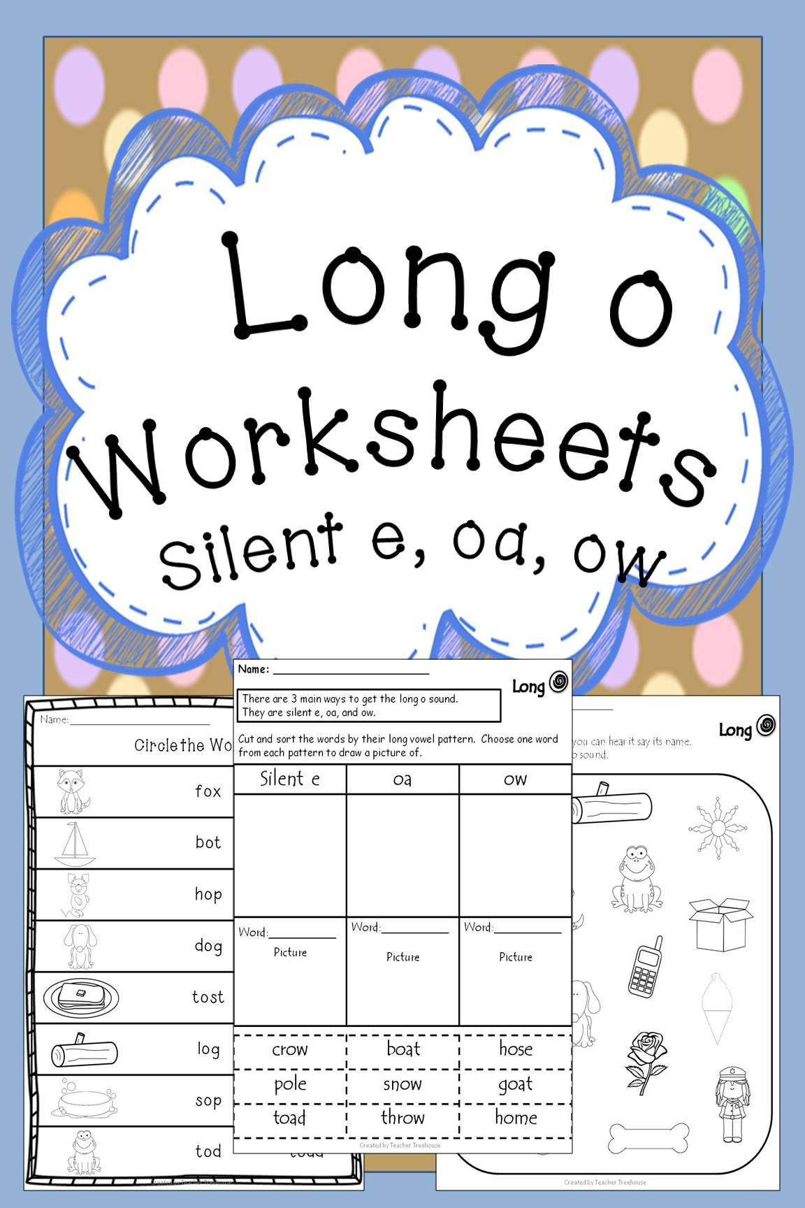 Silent E Worksheets Grade 2 Long O Worksheets Long O Oa Silent E Ow Vowel Teams