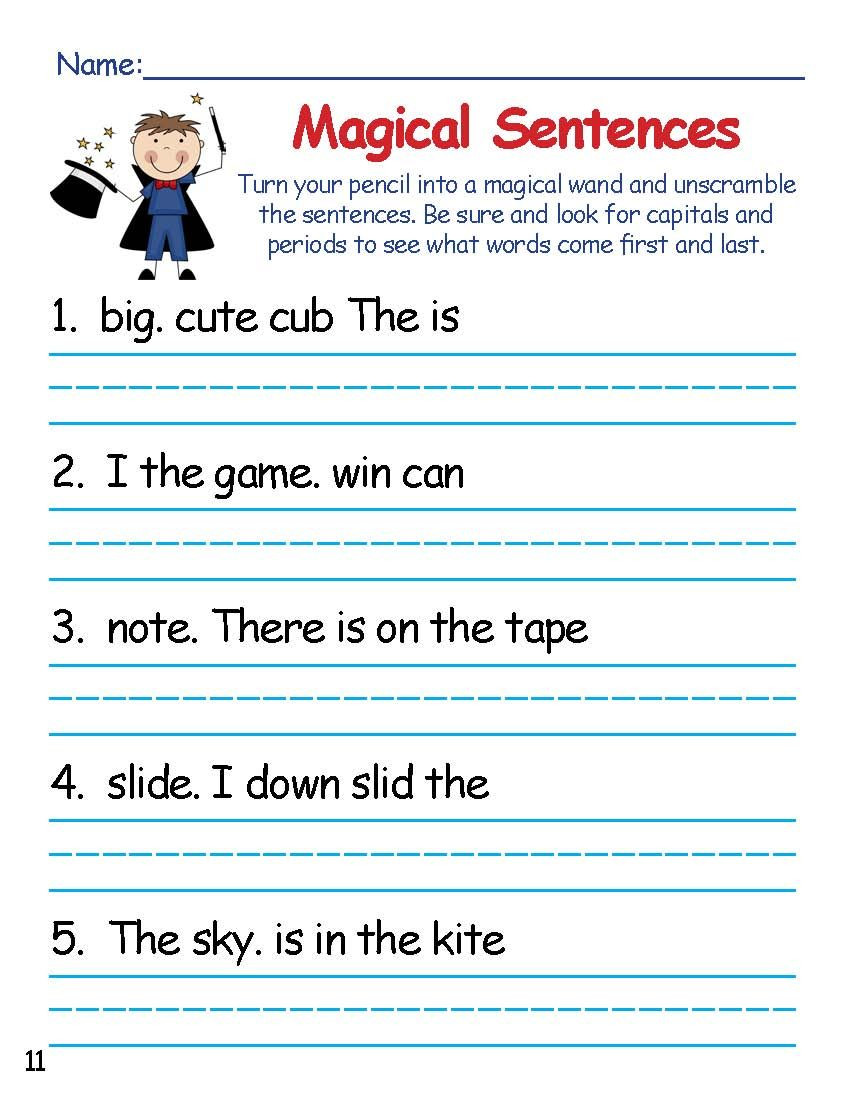 Silent E Worksheets Grade 2 Magic E Sentence Scramblers