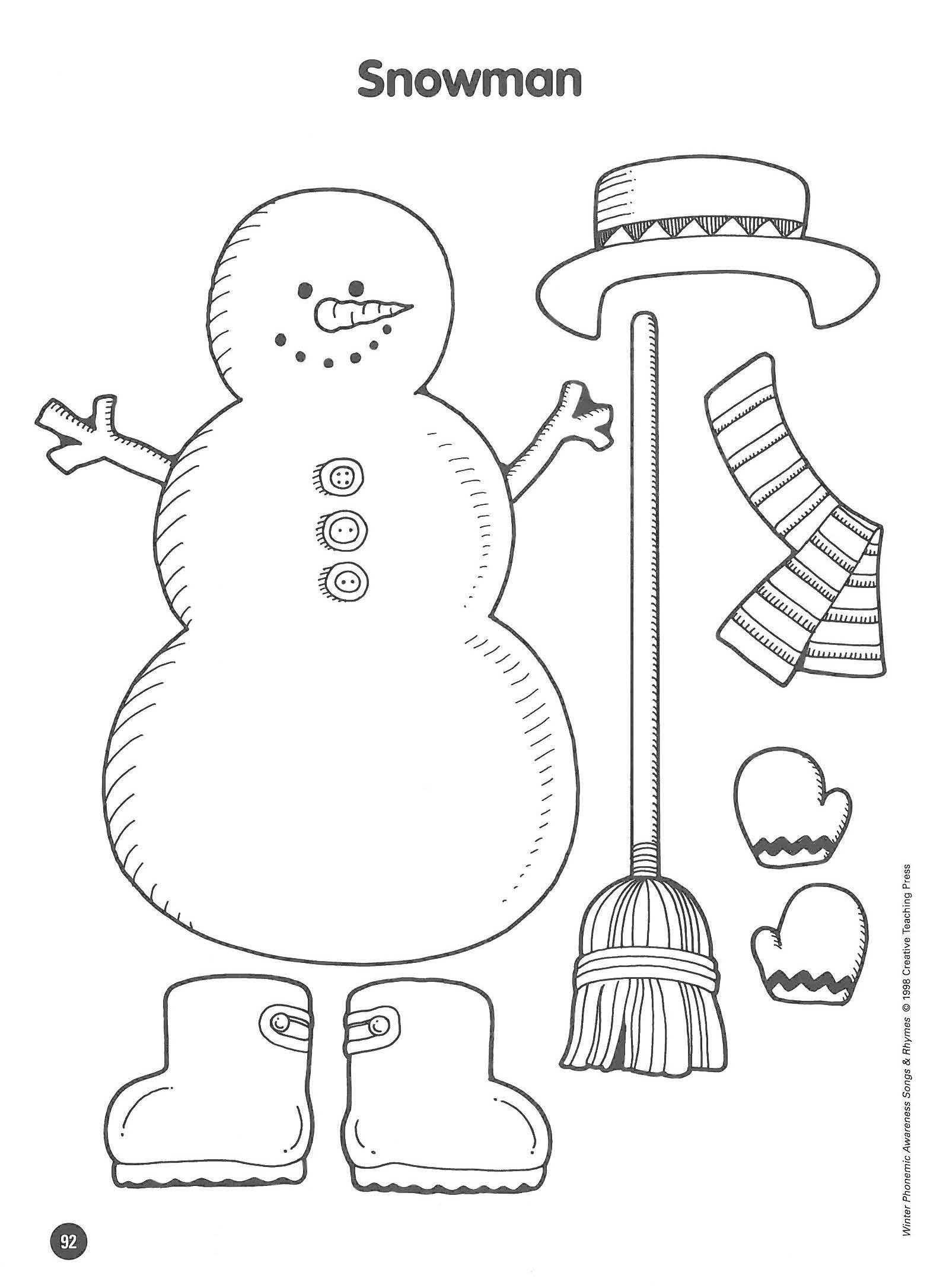 Snowman Math Worksheets Snowman Writing Paper Printable Bonjour Grade Mother