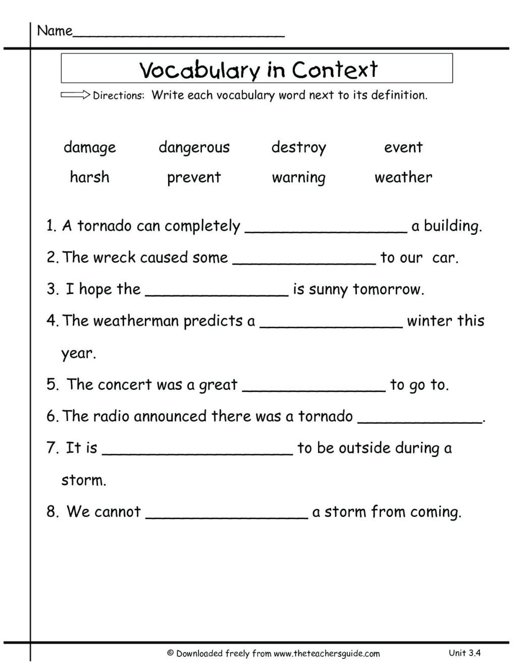 Social Studies Worksheet 3rd Grade Worksheet 3rd Grade Vocabulary Worksheets for