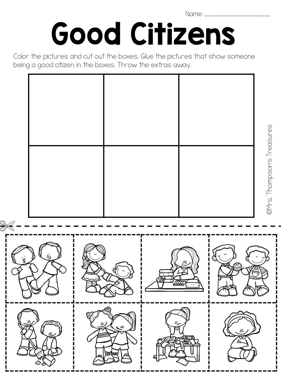 Social Studies Worksheets 2nd Grade social Stu S Being A Good Citizen Mrs Thompson S