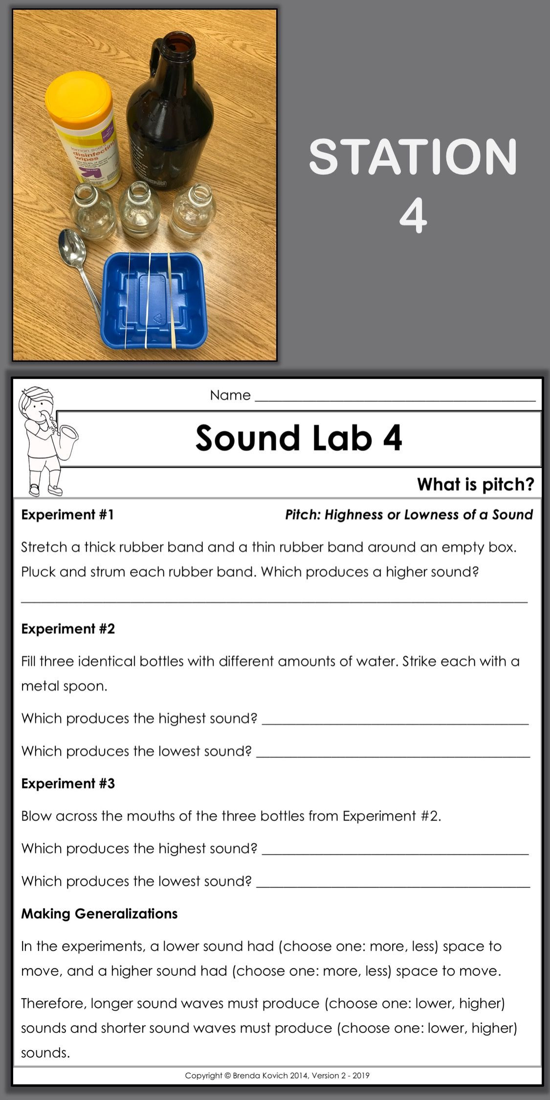 Sound Energy Worksheets 4th Grade Enjoy Teaching sound with Physics Activities for Kids