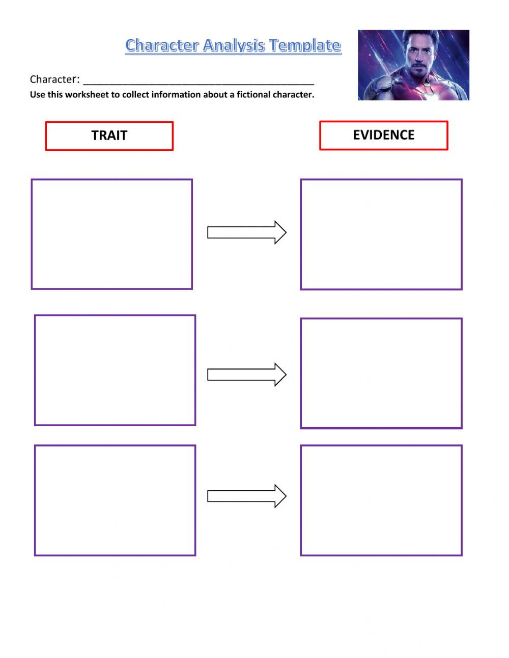 Story Elements Worksheet 2nd Grade Character Analysis Template Interactive Worksheet