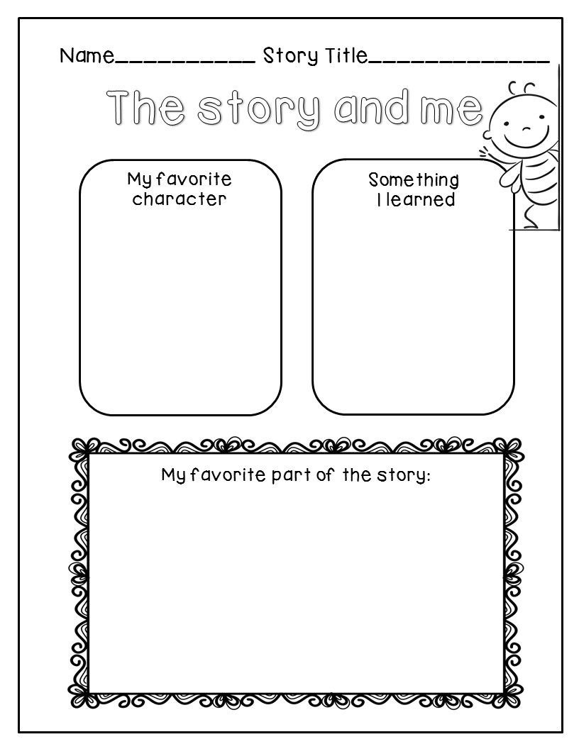 Story Elements Worksheet 2nd Grade Freebie Story Elements & Reading Response Page