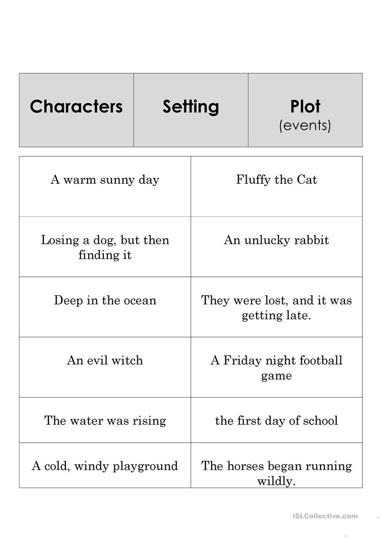 Story Elements Worksheet 2nd Grade Worksheets Story Elements