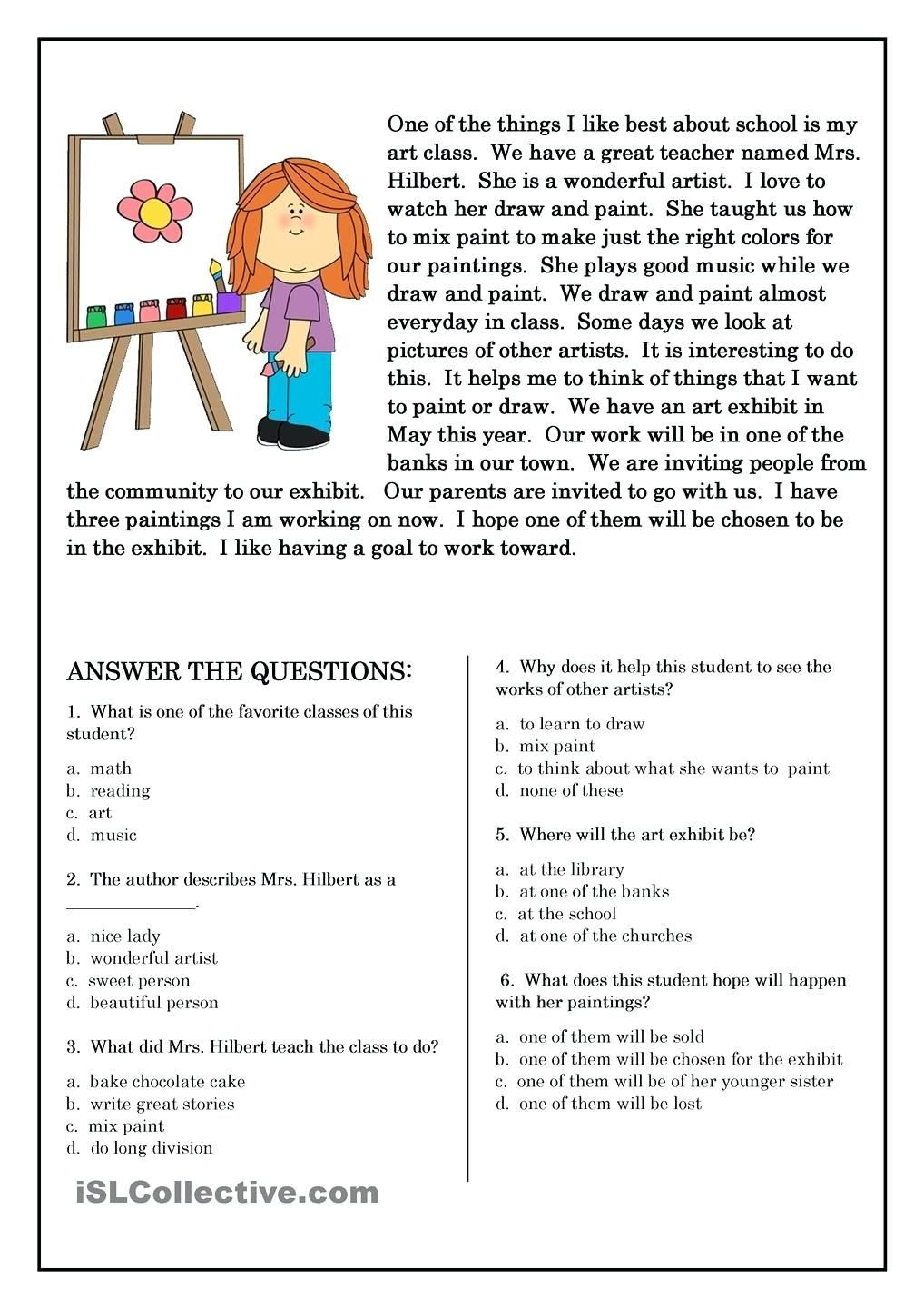 5 Elements A Short Story Worksheets Free Preschool