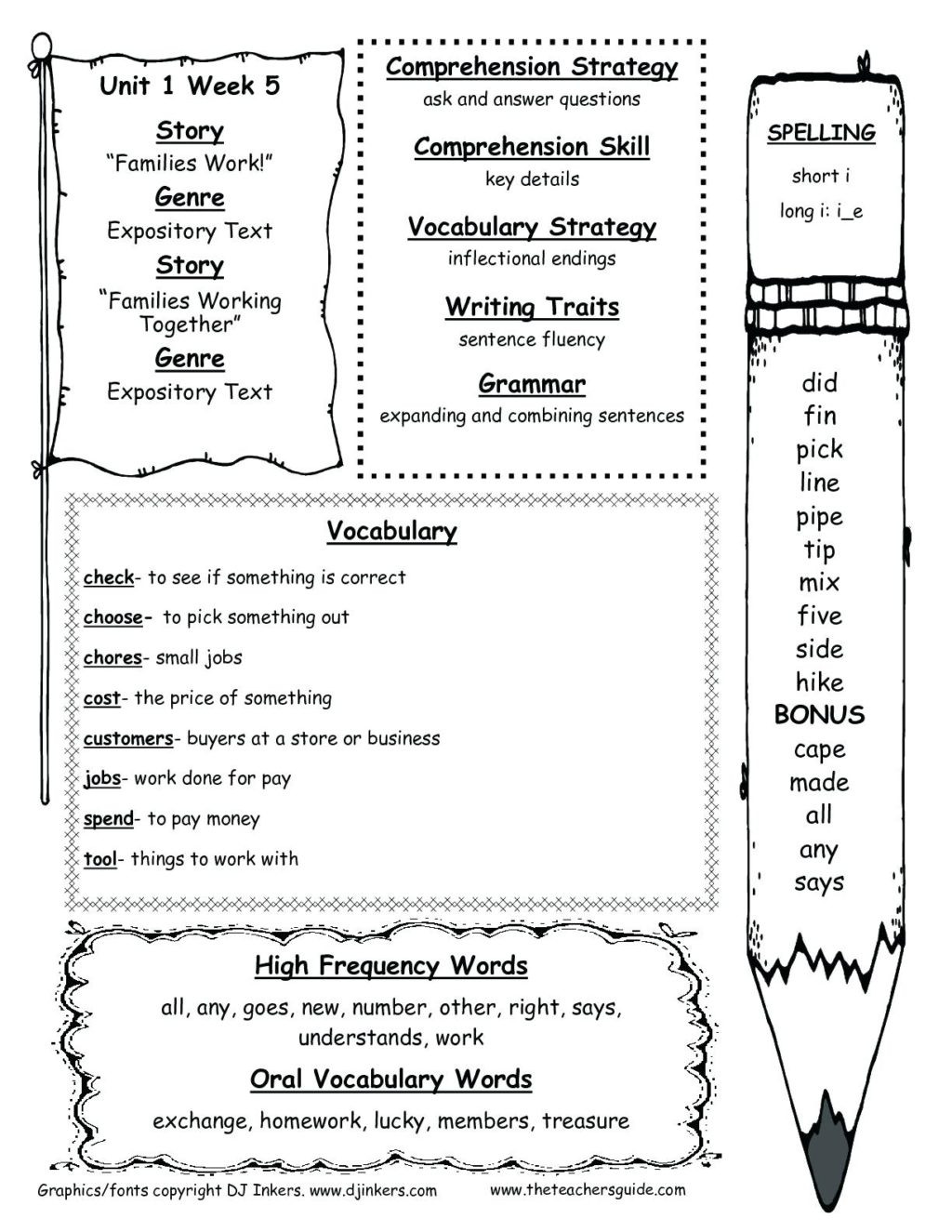 Summary Worksheets 2nd Grade Worksheet 2nd and 3rd Grade Math Second Reading