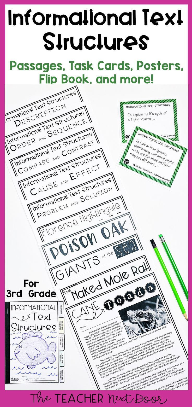 Text Structure 3rd Grade Worksheets Informational Text Structures 3rd Grade