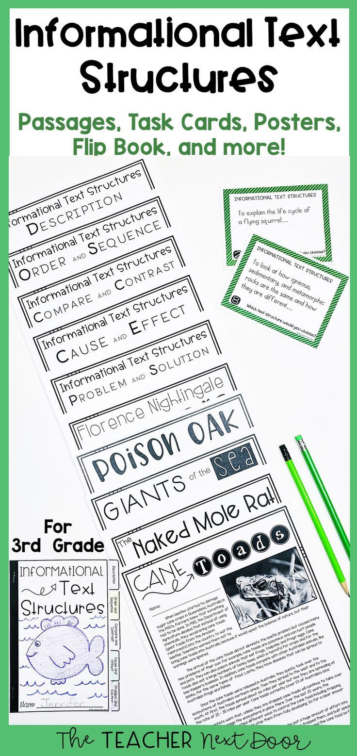 Text Structure Worksheets 3rd Grade Informational Text Structures 3rd Grade In 2020
