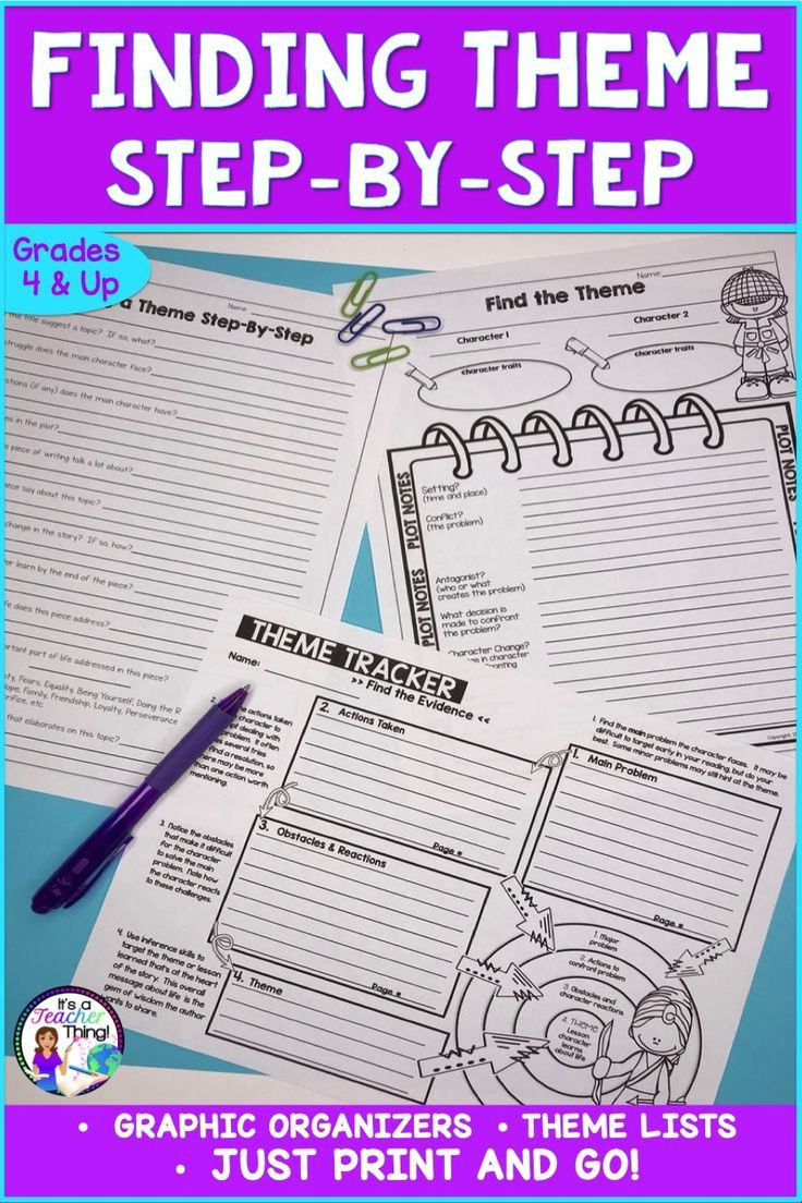 Theme Worksheet Middle School theme Activities to Prove theme