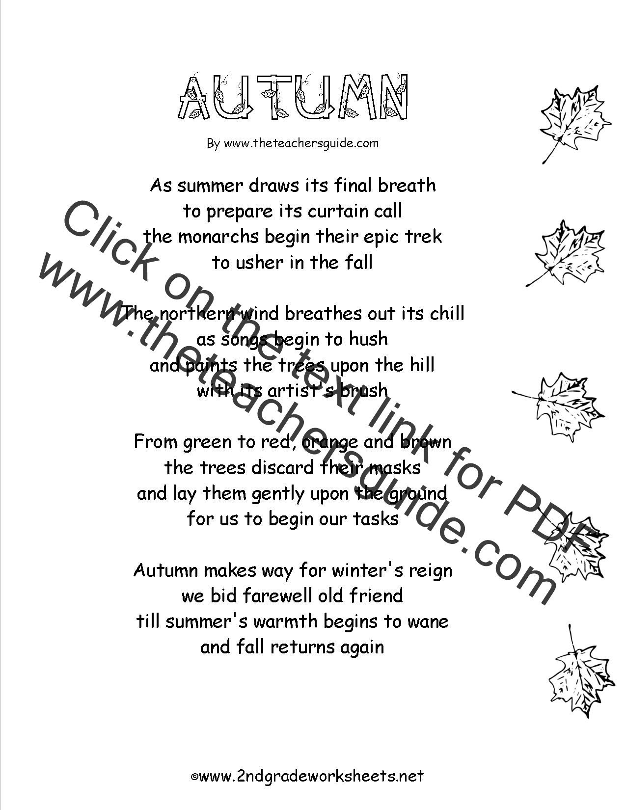 Theme Worksheets 2nd Grade Autumn theme Worksheets and Printouts