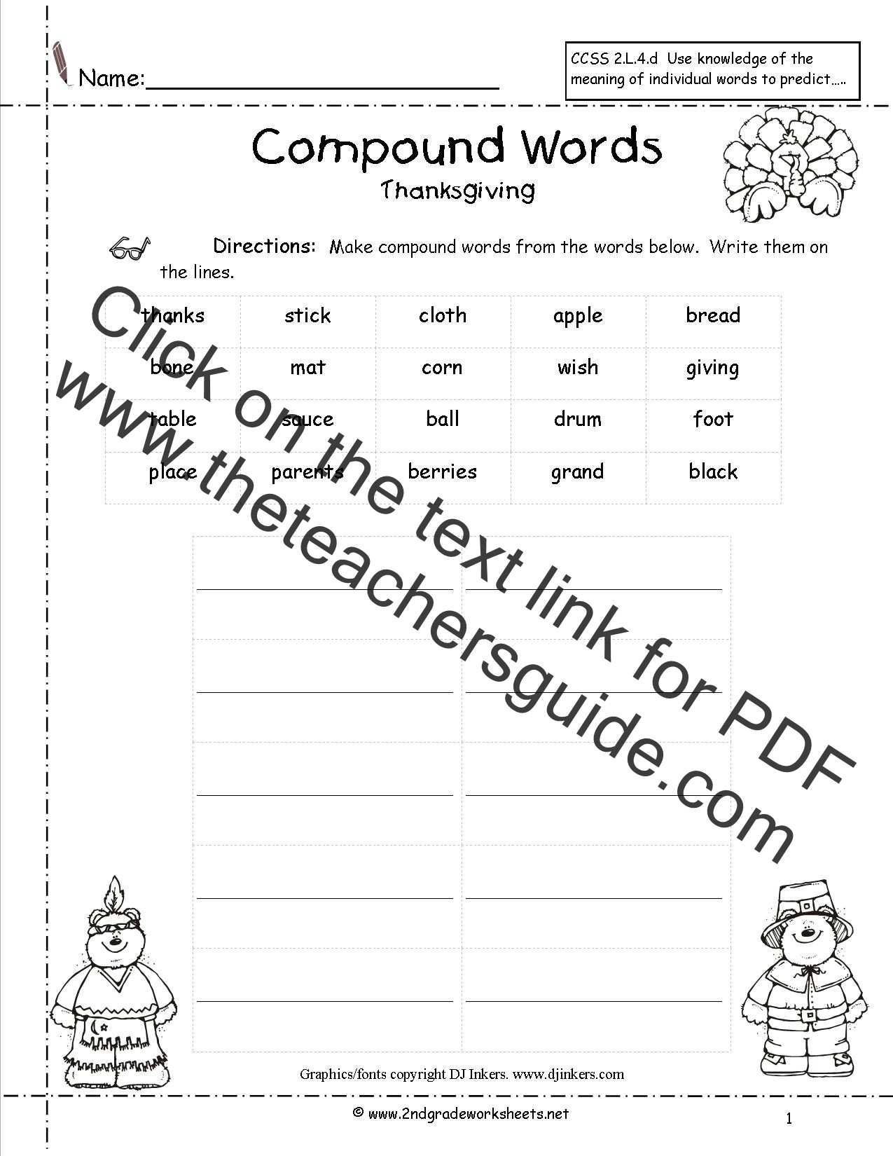 Theme Worksheets 2nd Grade Thanksgiving Worksheets 2nd Grade