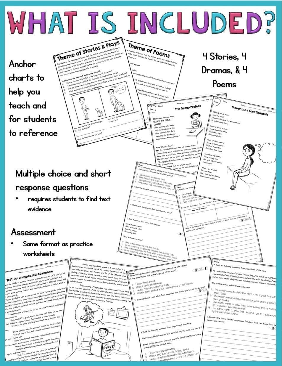 Theme Worksheets 5th Grade Pin On Educational Worksheets Template