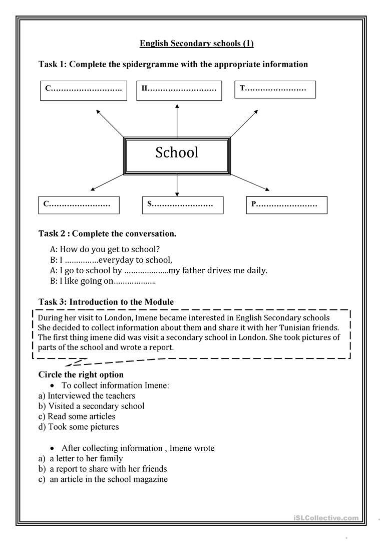 Theme Worksheets High School English Secondary Schools 1 English Esl Worksheets for