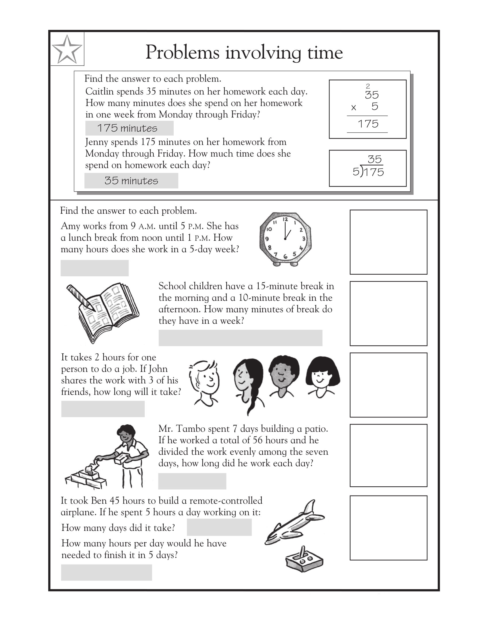 Third Grade Fraction Word Problems 3rd Grade Math Word Problems Best Coloring Pages for Kids
