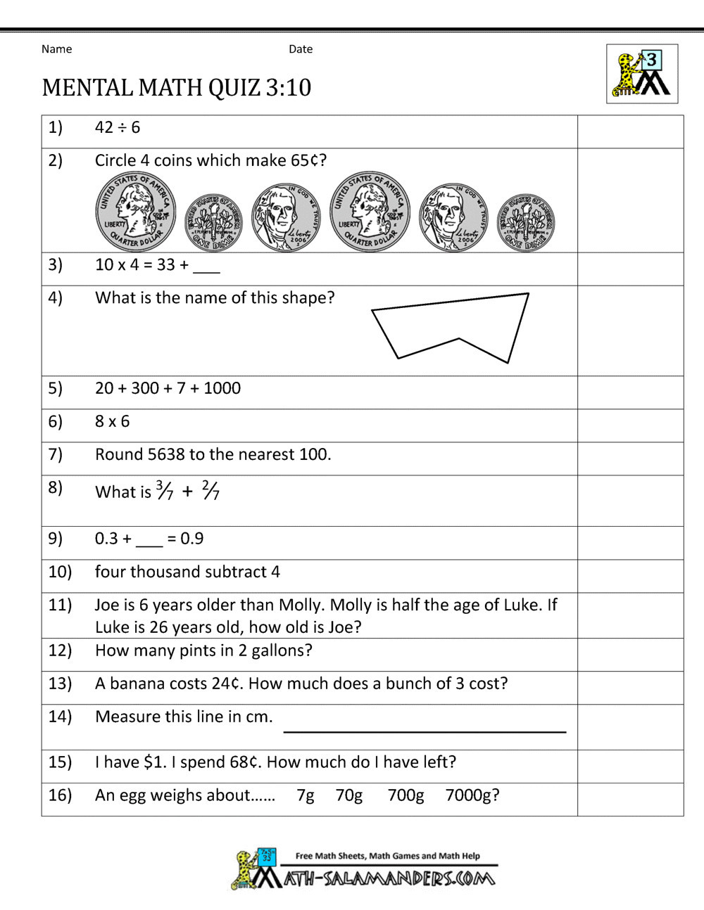 Third Grade Fraction Word Problems 4 Free Math Worksheets Third Grade 3 Word Problems Mixed