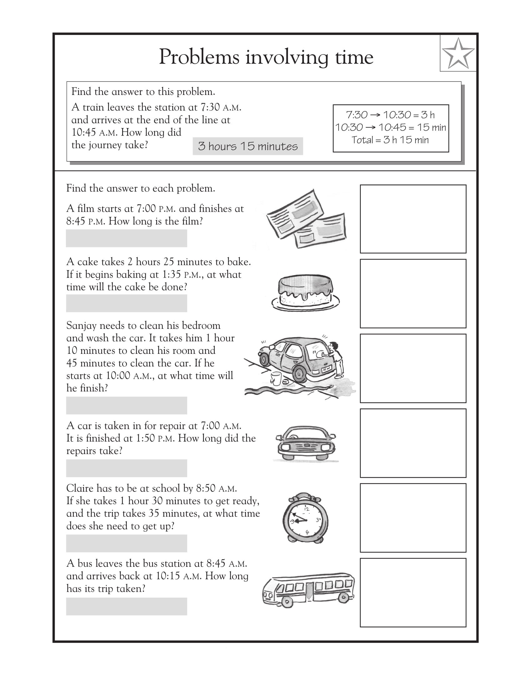Third Grade Fraction Word Problems Math Worksheet 3rd Grade Math Word Problems Book