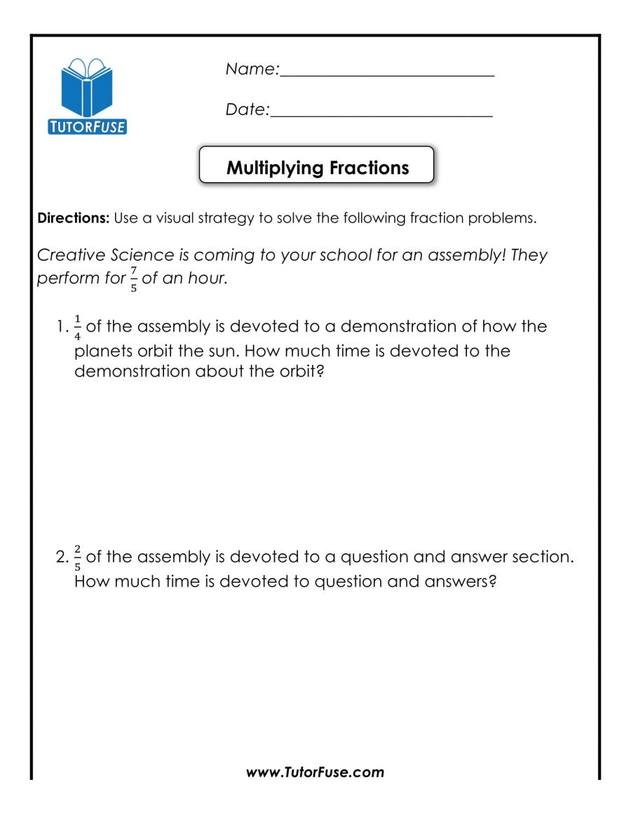 Third Grade Fraction Word Problems Worksheets Fabulous Multiplication Word Problems