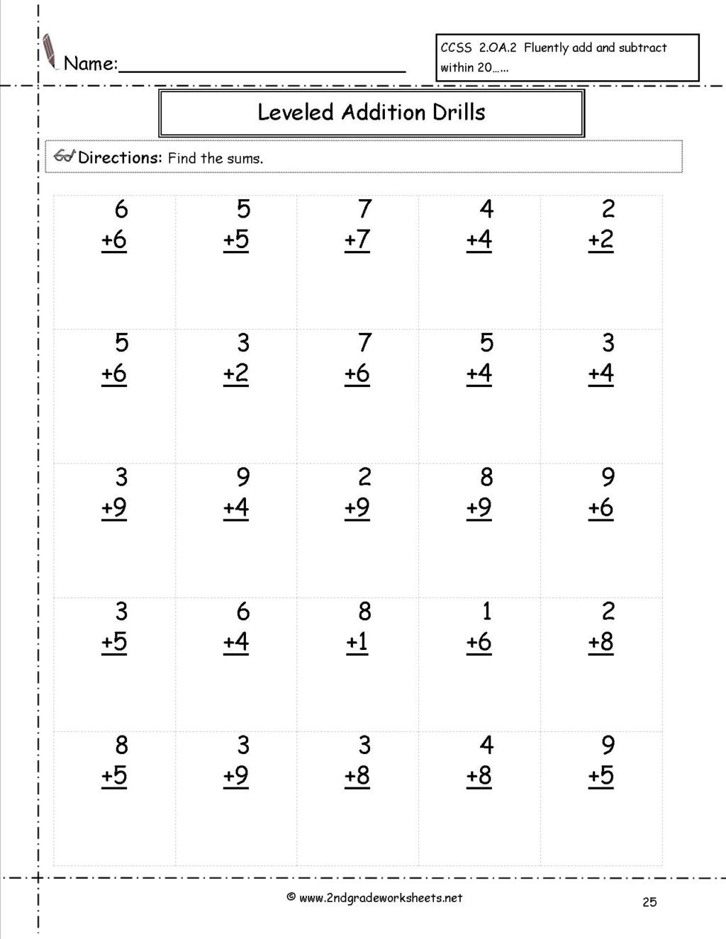 Third Grade Math Minutes Pdf Worksheet Minute Math Worksheets 2nd Grade Image