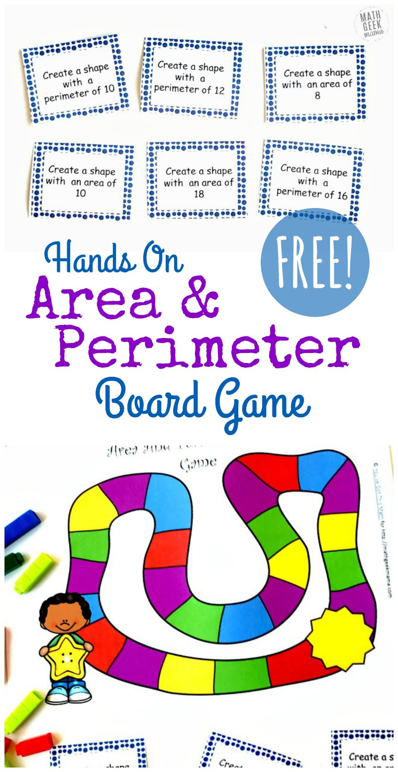Third Grade Perimeter Worksheets Hands area and Perimeter Game Free