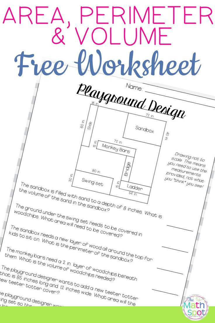 Third Grade Perimeter Worksheets Volume area Perimeter Worksheet Free