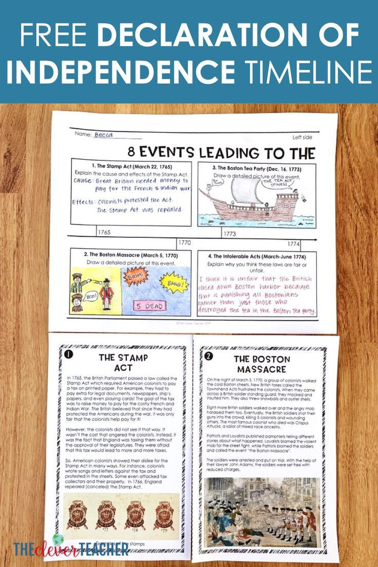 Timeline Worksheets for Middle School Let Your Students Creative with This Free Declaration Of