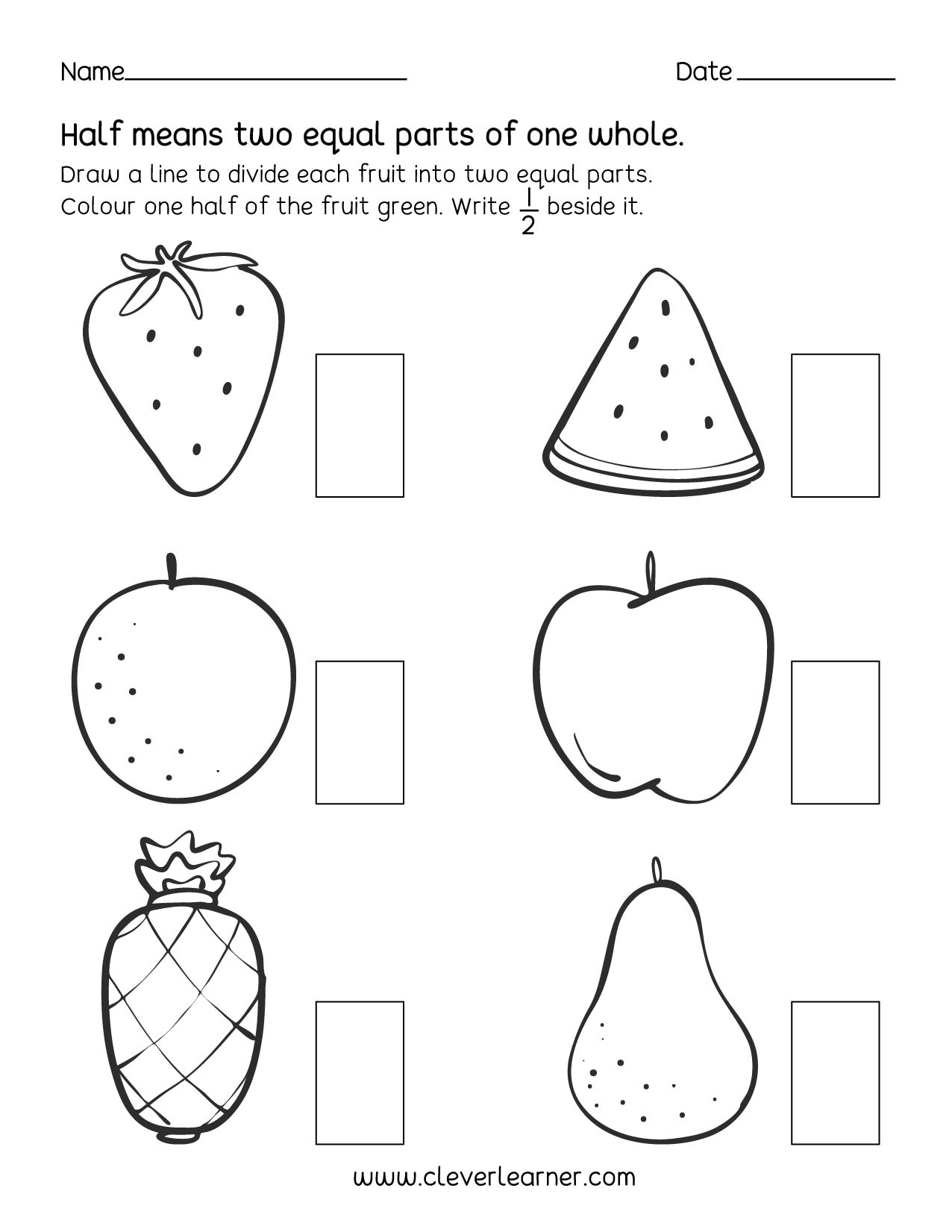 Touch Math Worksheet Generator Fun Activity Fractions Half Worksheets for Children First